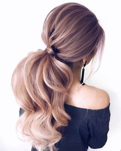 Previous No fuss updo! No need to go all out this Valentine's Day and do some crazy-complicated hairstyle. these gorgeous ponytail hairstyles are also... #weddinghairstyles
