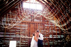 Love this idea for an afterparty -- outdoor wedding, then a barn afterparty