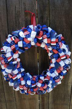 4th of July Patriotic Wreath #patriotic #usa