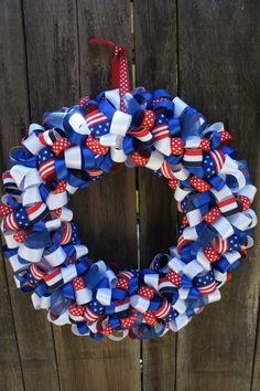 4th of July Patriotic Wreath #patriotic #usa