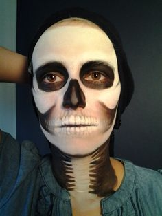 agwe face makeup google search - Skeleton Face Paint For Halloween