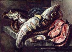 1655-1666 - Beijeren, Abraham van - Stilllife with fish - Frans Hals Museum, Haarlem