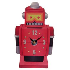 Fun Retro Robot Shaped Wall Clock £14 + FREE P&P  Each clock is made from MDF and has a standard plastic clock movement that requires 1 AA battery. All are wall mountable and come in a decorative but simple display box making them ideal gifts.  Dimensions: Height 35cm Width 21cm  #htlmp #readytopost #hikerneeds #clocks #robot #gifts #boysroom #gift