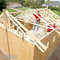 <p>The Editors of The Family Handyman demonstrate how to frame a garage. Get their best tips on design, foundations, framing, sheathing and more.</p>