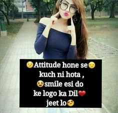 Best girl attitude status, girlish attitude, girl style all about of girl status and best quotes. Attitude Quotes For Girls, Crazy Girl Quotes, Girl Attitude, Girly Quotes, Crazy Girls, Attitude Status, Girls Dp, Girly Facts, Attitude Shayari