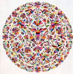 "Sylvia Ji - ""Pigeon Otomi"" print avail at Outré Gallery Mexican Embroidery, Folk Embroidery, Embroidery Patterns, Sylvia Ji, Bordado Popular, Catrina Tattoo, Mexican Pattern, Mexican Textiles, Mexican Designs"