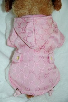 a612318e5ff1e7 Gucci Inspired Pink Fancy Fleece Coat Dog Clothes Patterns