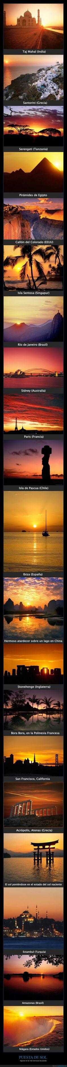 Algunas de las puestas de sol más hermosas del planeta