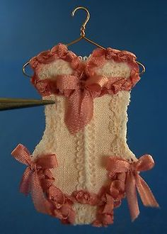 OOAK Dollhouse Miniature Corsets by Jared on Hanger 1 12 Scale One of A Kind | eBay