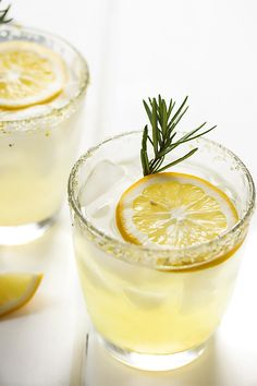 Cooks with Cocktails | Meyer Lemon Margarita with Rosemary Infused Simple Syrup | http://cookswithcocktails.com