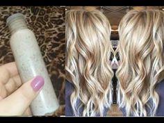 Clareamento de cabelo 100% natural caseiro - Você nunca mais vai fazer diferente! - YouTube