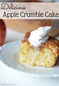 What happens when you combine yummy crisp apples with a delicious cake recipe? You get this great apple crumble cake recipe. You need to see just how easy it is to make. It's a perfect fall breakfast treat  or a great fall dessert to eat.