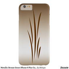 Metallic Bronze Grass iPhone 6 Plus Case