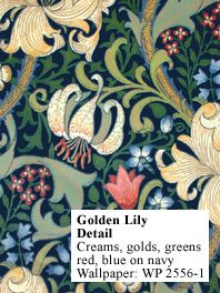 Ancient wallpaper- Golden Lily by William Morris- Only available til the end of the month