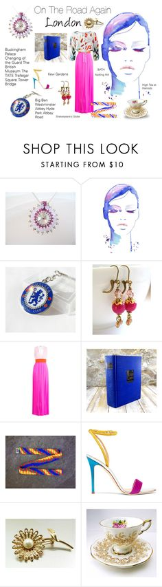 """""""On the Road Again - London"""" by seasidecollectibles ❤ liked on Polyvore featuring Emilio Pucci, Giuseppe Zanotti, Mara Hoffman and vintage"""