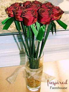 DIY Ribbon Roses