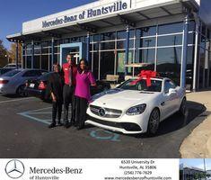 Congratulations Ernestine on your #Mercedes-Benz #SLC from Nelson Alvarado at Mercedes-Benz of Huntsville!  https://deliverymaxx.com/DealerReviews.aspx?DealerCode=TSTE  #Mercedes-BenzofHuntsville
