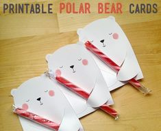 Printable Valentine's Cards Polar Bears by PBJandJ on Etsy Bear Valentines, Valentines For Kids, Valentine Day Crafts, Christmas Crafts, Printable Valentine, Homemade Valentines, Valentine Wreath, Valentine Ideas, White Christmas