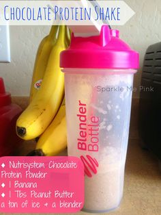 Nutrisystem Chocolate Protein Shake  Blender Bottle  WEEK TWO Update | Meal Inspirations, Transition Week + Video Weigh In