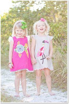 SHADE Handmade Kids Clothes - Loving this flutter sleeve Flamingo dress!