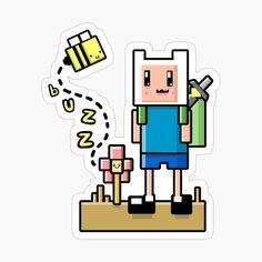 Adventure Time Merchandise, Sticker Design, Top Artists, Bee, My Arts, Jokes, Stickers, Art Prints, Printed
