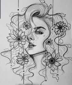 3d Art Drawing, Girl Drawing Sketches, Art Drawings Sketches Simple, Pencil Art Drawings, Sketch Art, Cool Drawings, Painting & Drawing, Arte Sketchbook, Aesthetic Art