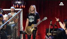 """Check this out ~ Doug Aldrich guest guitarist on """"That Metal Show"""" last weekend sporting his BCC """"2"""" t-shirt!"""