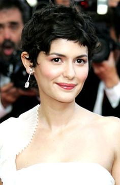 Audrey Tautou and her beautiful cropped-cut