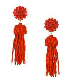 Tassel Earrings - Red - Lisi Lerch