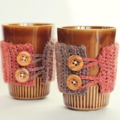 Mug Cozy Tutorial - So cute! I cant wait to start drinking coffee again so I can use these ;)