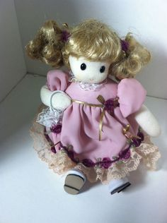"Berkeley Designs Vintage Doll Musical Animated  Wind Up Plays ""Minuet Mozart"" #Dolls"