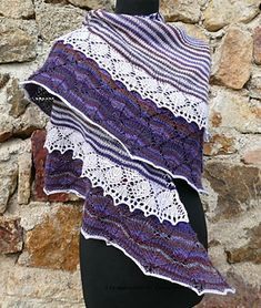 Frou Frou Shawl    Free knit pattern in french and english