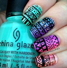 Coloured Aztec X
