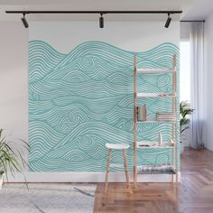 Shop wall-murals that cover an entire wall with floor-to-ceiling designs. Easy to stick on and remove, this stunning wall decor lets you create an amazing statement space. Bedroom Murals, Bedroom Wall, Bedroom Decor, Wall Painting Decor, Wall Decor, Art Mural, Wall Murals, Ocean Mural, Wall Paint Patterns