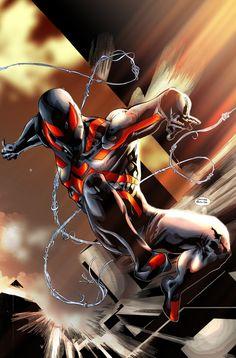 Stealth Spiderman Colored by rapnex.deviantart.com on @deviantART