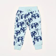 Elephant Sweatpant #blue #boyswear #minirodini #organic-cotton #sweatpant #zoologist