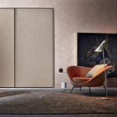 Moderner Sessel / Leder / Textil / von Gio Ponti D.154.2 Molteni & C