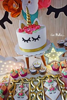 Check out this wonderful Unicorn Birthday Party! See more party ideas and share yours at CatchMyParty.com #unicorn #unicornparty