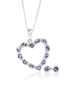 Silver and Tanzanite Pendant With Free Chain and Earrings *Prices Valid Until 25 Dec 2013 Gold Jewelry, Fine Jewelry, Tanzanite Pendant, Purple Reign, Blue Skies, Silver Rings, Chain, Diamond, Bracelets