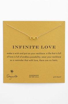 Dogeared 'Reminder - Infinite Love' Boxed Pendant Necklace available at #Nordstrom