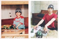 NCT Recreates Childhood Photos For Children's Day Nct Johnny, Jaehyun, Baby Pictures, Baby Photos, Kpop, Memes, Sm Rookies, Childhood Photos, Fandom