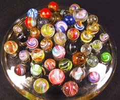 Private Collectors Display of vintage german Handmades on For The Love Of Marbles Group ~ https://www.facebook.com/groups/903781016299802/