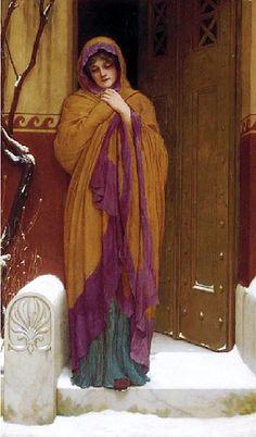 The Athenaeum - A Winter's Morning (John William Godward - )