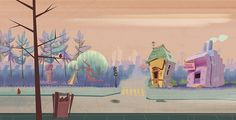 TDM's Backgrounds by Oscar Ramos, via Behance
