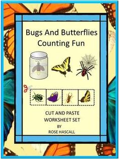 Most children are fascinated by insects. Some are willing to pick them up and put them in bug catchers to study them closer. Others are not that brave. But all students will enjoy studying insects while practicing their counting skills with this Bugs and Butterflies Counting Fun Cut and Paste packet.