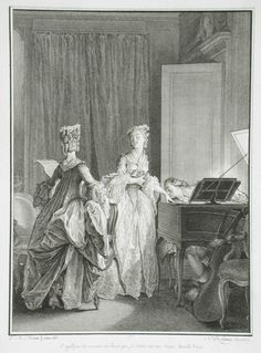 """""""Il appliqué sur ma main un baiser que je sentis sur mon coeur,"""" print from Collection complète des oeuvres de J.-J. Rousseau (London, 1774-1783), vol. 2, p. 282, Nicolas de Launay, engraving, 1777, French."""