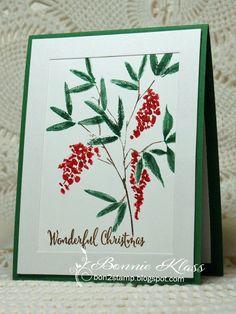 Stamping with Klass: Full Bloom Nandina