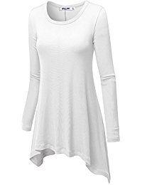27e66f3f8d073d Amazon.com  White - Tunics   Tops  amp  Tees  Clothing