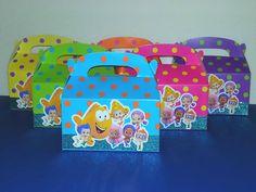 Large Bubble Guppies Favor Boxes  Gable Boxes by PishPoshPartique