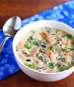 Mushroom, Ham and Wild Rice Soup